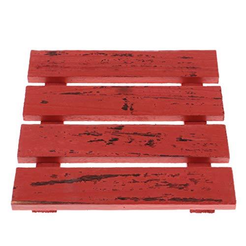 dailymall Rustikale Holzbrett Boden Kunst Projekte Brettspiel Stück Wand Foto - Rot, S