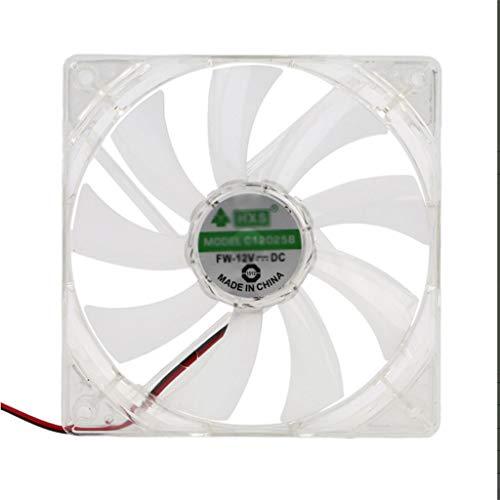 SCDMY Ventilador de computadora para PC 4 luz LED 120 mm Caja de computadora para PC Ventilador de enfriamiento Ventilador de fácil instalación 12V