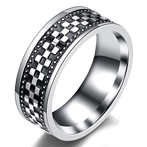 XINYIU Herrenmode Schmuck Retro Punk Style Edelstahl Cool Ring Glamour Personalisierte Geburtstagsfeier Accessoires