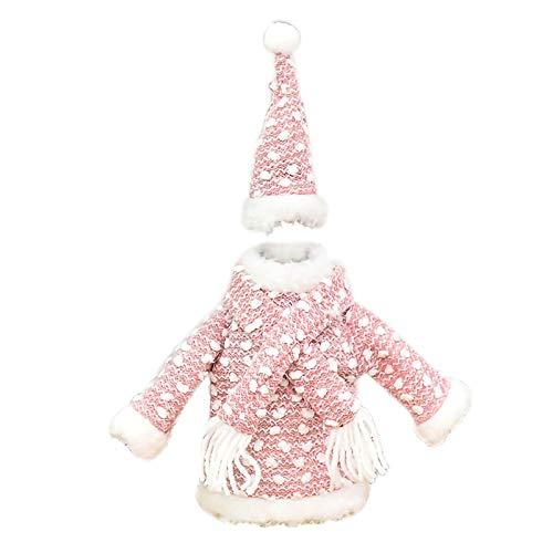 Shiningwe 3pcs Mini Navidad Ropa Decoraciones para Cubierta de Botella de Vino Cubierta de Navidad Cubierta Lindo Decoración del Hogar