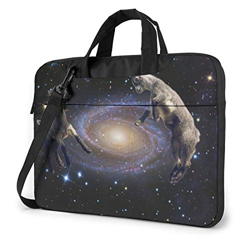 zsst Laptop Sleeve Case Cover Cosmic Goats Funny Space Goat Carrying Handbag Briefcase Computer Protective Bag Compatible with 13 Inch Notebook