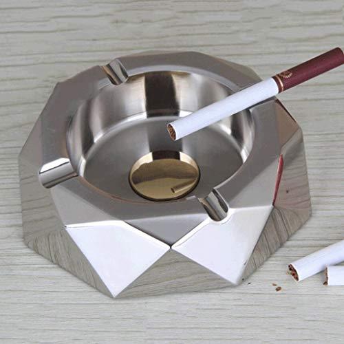 MISS KANG Agua Metales cúbicos Cenicero de Acero Inoxidable aleado Ashtray (Color: Latón) Qingchunw (Color : Silver)