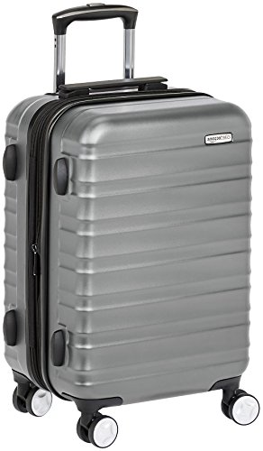 AmazonBasics Premium Hardside Spinner Luggage with Built-In TSA Lock - 21-Inch Carry-on, Grey