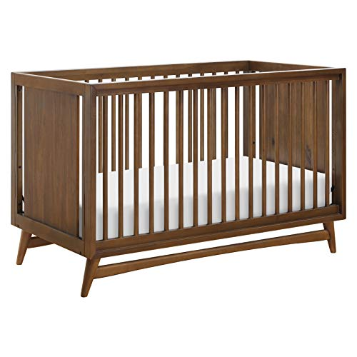Babyletto Peggy 3 in 1 Convertible Crib with Toddler Bed Conversion Kit in Natural Walnut