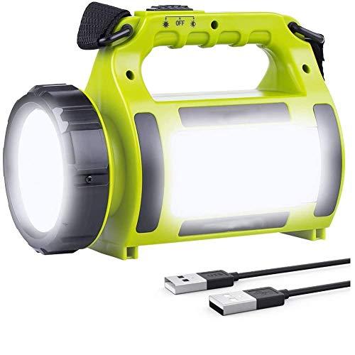 XGHC Linterna LED Regarcable con 4 Modos,Impermeable Lámpara Camping LED Portátil, CREE LED USB Recargable 2000mAh, Farol LED Adecuada para Actividades Exteriores 0429