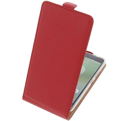 foto-kontor Tasche für Lenovo K6 Note Smartphone Flipstyle Schutz Hülle rot