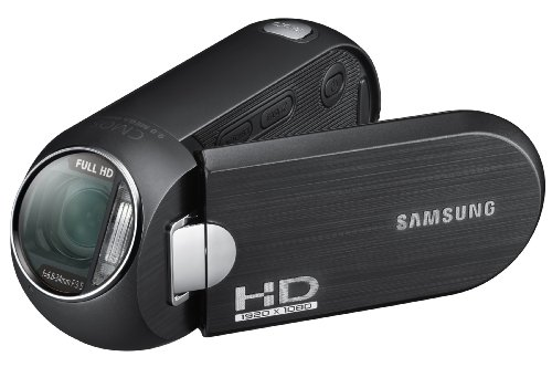 Samsung HMX-R10BP/EDC HD Camcorder (SD/SDHC/MMC-Card, 9 Megapixel, 5-Fach Opt. Zoom, 6,9 cm (2,7 Zoll) Display) schwarz