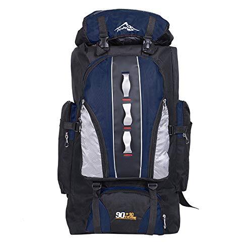 WOSHUAI Navy Blue Rucksack Mount Trekking Rucksack, 100l Reisen Wandern Rucksack für Outdoor Reise Camping