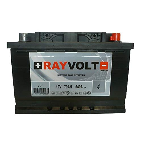Batterie Auto rayvolt rv3 70ah 640a