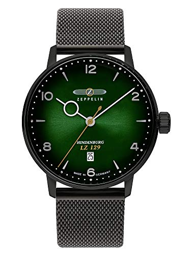 Zeppelin Herrenuhr LZ129 Hindenburg Milanaise-Armband Schwarz 8048M-5