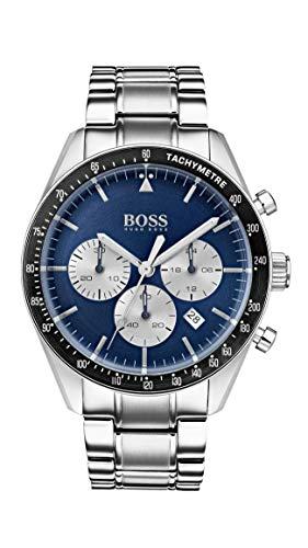 Hugo Boss Herren Chronograph Quarz Uhr mit Edelstahl Armband 1513630