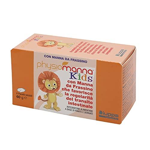 PHYSIOMANNA KIDS con pura Manna da Frassino: favorisce il benessere gastrointestinale per bambini a partire dai 3 anni – 6 panetti, 60 gr