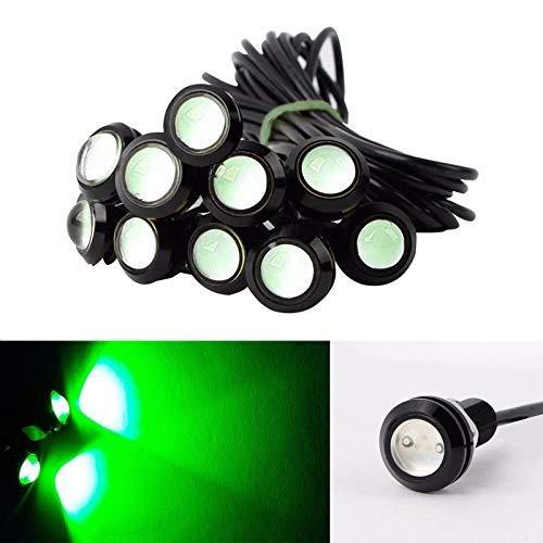 Eagle Eye LED Light 10 stuks 9W 23mm LED dagrijverlichting voor motorfiets mistlampen DRL 12V waterdicht met schroef voor auto motor Groen