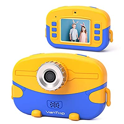 VanTop Junior K6 Kids Camera with 32GB Memory Card, Supports 20.0MP Photo, 1080P HD Digital Video and 4X Digital Zoom, Great Gift for Kids with 2 Inch IPS Screen and Rechargeable Battery from VanTop