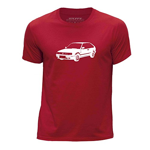Stuff4 Chicos/Edad de 12-14 (152-164cm)/Rojo/Cuello Redondo de la Camiseta/Plantilla Coche Arte/Polo G40