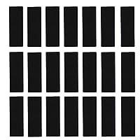 EXCEART 100Pcsフックアンドループ粘着テープ粘着性のあるバックファスナーラグアンカーカーペット滑り止めマット滑り止めステッカー正方形家庭用またはオフィス用2 * 10Cm