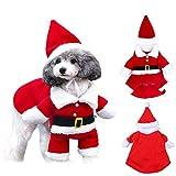 WELLXUNK® Disfraz de Papá Noel de Pet, Disfraz de Navidad para Mascotas, Disfraz de Navidad para Perros Lindo Santa Claus Ropa de Fiesta año Nuevo Divertido Disfraz para Fiestas de Mascotas (S)