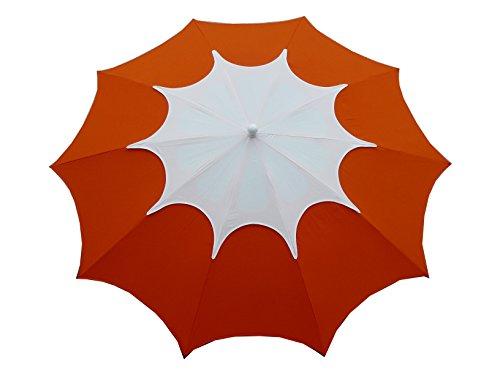 Maffei Art 35 FLOS. Parasol de Design, Rond, diamètre cm. 250 avec cheminée. BREVETE Fabriqué en Italie. Coluleur Orange/cheminée Blanc