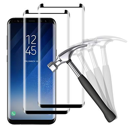 NUOCHENG Verre Trempé pour Samsung Galaxy S8, [2 pièces][sans Bulle d'Air][Ultra Résistant][Dureté 9H][Anti Rayures] Film Protection en Écran Protecteur Vitre pour Samsung Galaxy S8