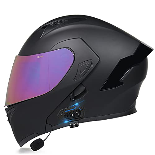NBSMN Casco Moto Modular,Casco De Moto Bluetooth Integrado,ECE/Dot Homologado,Unisexo para Motocicleta Bicicleta Scooter Cascos De Moto Modulares,con Doble Visera Cascos D E-M