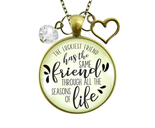 gutsy goodness friend pendants Gutsy Goodness Best Necklace Luckiest BFF Life Quote Everday Jewelry 24