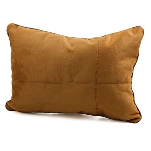 YeVhear - Cojín lumbar cuadrado de algodón marrón