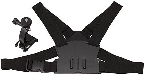 SportXtreme Imbragatura pettorale regolabile per videocamere, action cam, fotocamere, Reflex con Filettatura, Vite Fotografica da 1/4 Pollice