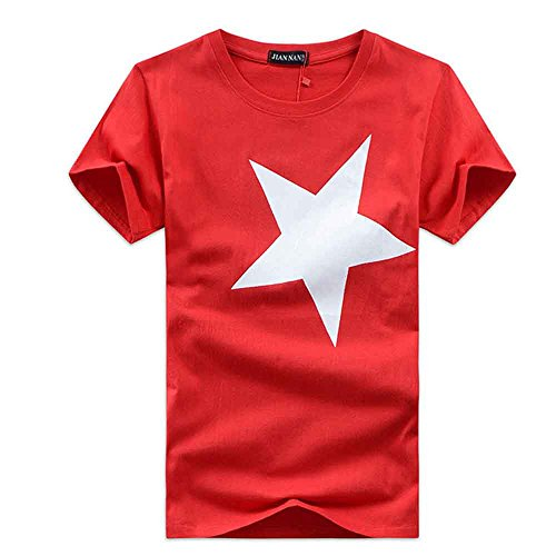 FRAUIT heren hoge kwaliteit 100% katoen shirt bedrukt mode korte mouwen T-shirt voor mannen jongens korte mouwen casual katoen hit hop gedrukt thee hemd nonchalante blouse