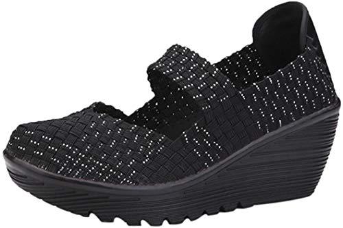 Zapatos para Mujer Otoño 2018 Zapatillas de Cuña Dama de Plataforma PAOLIAN...