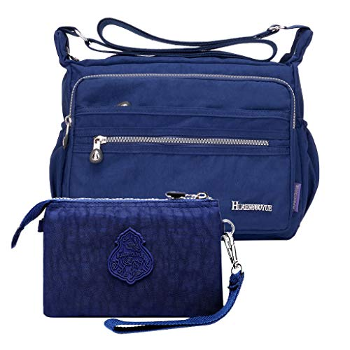 Great Price! Waterproof Nylon Shoulder Crossbody Bags Handbag with Zipper Pocket