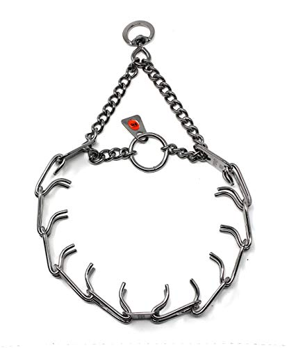 Herm Sprenger Stainless Steel Prong Dog Training Collar with Swivel Ultra-Plus Pet Pinch Collar No-Pull Collar for Dogs Made in Germany 2.25mm x 16in...