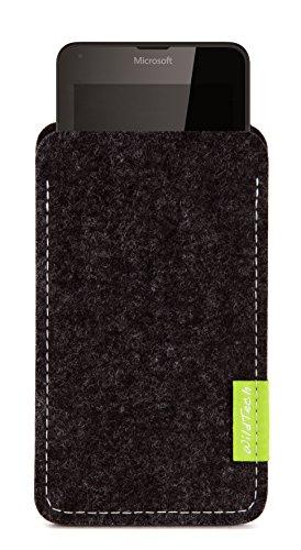 WildTech Sleeve für Microsoft Lumia 640 XL Dual SIM Hülle Tasche - 17 Farben (Made in Germany) - Anthrazit