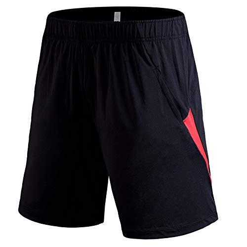 Pantalones de chándal para correr para hombres, pantalones de chándal informales, pantalones deportivos con dobladillo abierto, pantalones cortos para correr, para correr, entrenamiento, gimnasio M