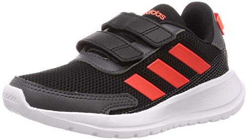Adidas TENSAUR Run C, Zapatillas Running Unisex Infantil, Gris (Core Black/Solar Red/Grey Six), 31 EU