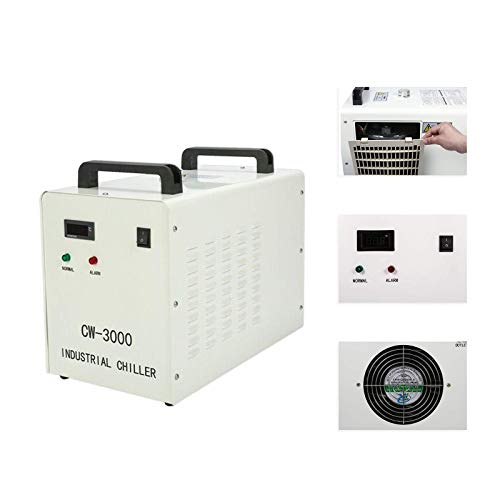 Industrial Water Chiller Cool 60W 80W CO2 Laser Tube Engraver CW-3000AG