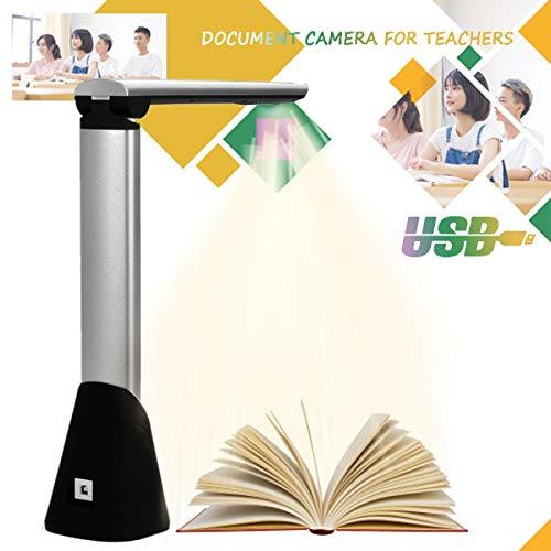 BELOVINGSHOP Dokumentenkamera Schule, Scanner Flachbett USB mit HD Echtzeitprojektion, OCR Funktion, A4 Scanner für Bildungspräsentation Office Library