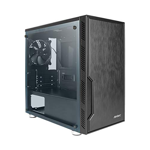 Antec VSK10 Window Value Solution Series Highly Functional Micro-ATX Case, Window Side Panel, Support 4 x 140 mm Fan and 280 mm Radiator, 2 x USB3.0, Black