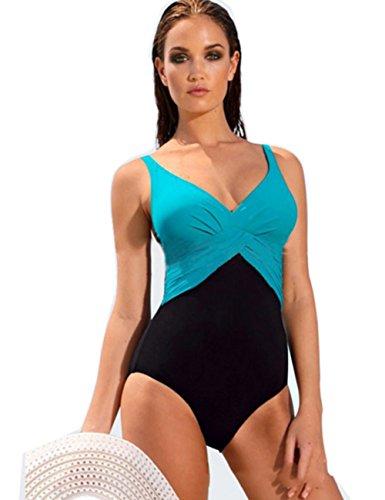 Bikini Natacion Traje de Baño Una Pieza Bañador Mujer Alta
