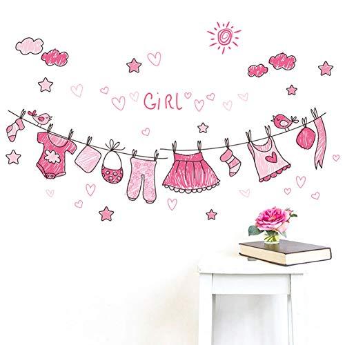 TAOZIAA Sunny Pink Kleidung Wandaufkleber Für Kinderzimmer Schlafzimmer Wohnkultur Wohnzimmer Mädchen Geschenke Pvc Wandtattoos Diy Wandkunst Poste