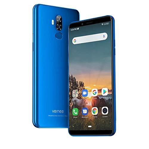 Vernee X2(2019) Dual SIM Smartphone Ohne Vertrag, Android 9.0 4G Handy, 6350 mAh großer Akku, 3GB RAM 32GB ROM, 13MP+5MP Haupt/5MP Frontkameras, 6 Zoll 18: 9 HD-Display, Fingerabdruck (Diamant blau)