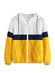 Material: Polyester, quick-drying fabric. Long sleeve, colorblock, drawsting hood, zipper up, two side pockets,elastic waist hem,lightweight,windproof Comfy and adorable,suit for outdoor,school,jogging traveling, driving, trekking or just casual wear...