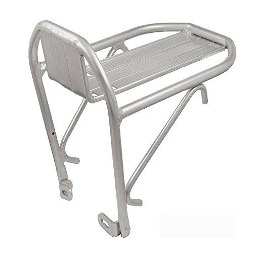ONOGAL Porta Bultos portabultos para alforja fabricados en aluminio plata delantero anclaje a frenos de bicicleta 6002