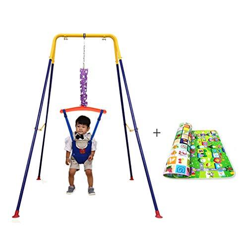 Saltador bebe Bebé puerta Jumper con soporte y Mat, Baby Umbral rack de fitness infantil divertido pasar Saltar silla balancín de rebote Salto del asiento infantil del saco del niño de los puentes y h