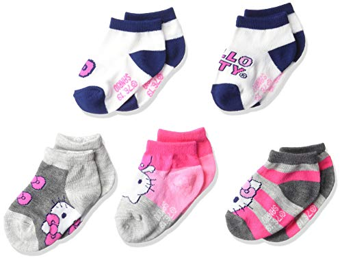 Hello Kitty baby girls Hello Kitty 5 Pack Shorty Socks, Assorted Grey, 12-24 Months US