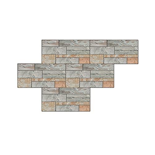 Textura de roca parche de pvc engrosado decoración del hogar pared y piso de doble propósito azulejos de cerámica pegatinas de pared 30x15 cm 12 piezas