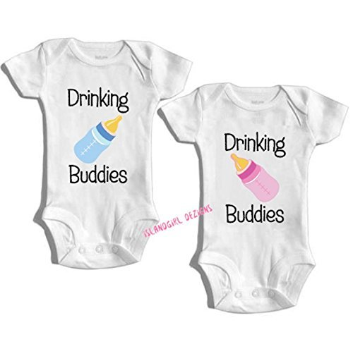 Funny Baby Gift Twin Outfits Baby Romper Gifts for Baby I Want Pizza Baby Gift