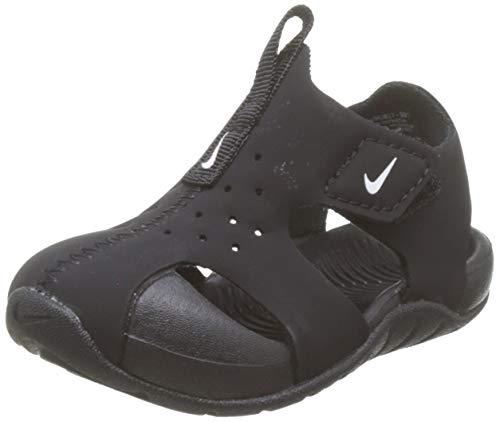 Nike Unisex-Kinder Sunray Protect 2 (td) Durchgängies Plateau Sandalen, Schwarz (Black/White 001), 19.5 EU