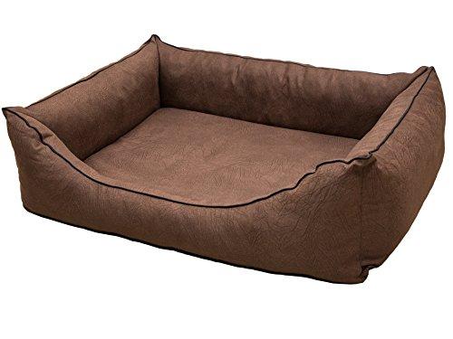 CopcoPet - Hundebetten Emma Wildlederoptik - Safari Braun Gr: M ca. 70 x 55 cm