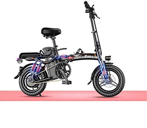 MQJ Ebikes Bicicletas Eléctricas Rápidas para Adultos Bicicleta Eléctrica Plegable para Adultos, Conmutar Ebike con Conversión de Frecuencia Motor de Alta Velocidad, Bicicleta de la Ciudad Velocidad