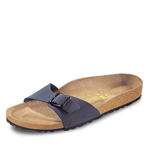 Birkenstock Schuhe Madrid Birko-Flor Nubuk Normal Navy (040121) 42 Blau